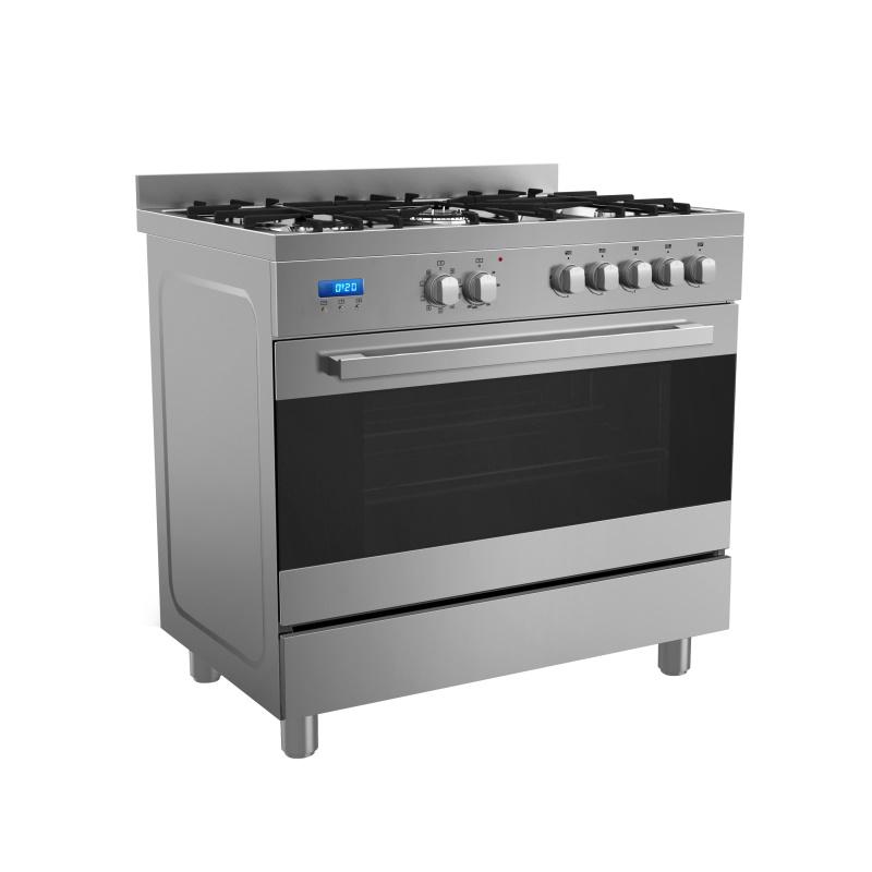 Midea 90cm Dual Fuel Upright Cooker 36SME5GFR00P48