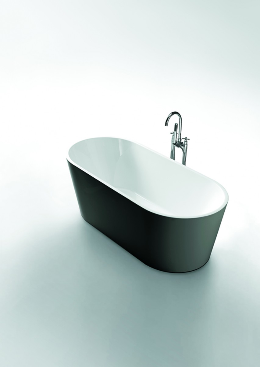 Freestanding Bath Nirvana 1700 Black White 1700x800x600mm